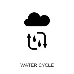 Water cycle icon. Water cycle symbol design from Ecology collection.