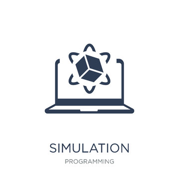Simulation icon. Trendy flat vector Simulation icon on white background from Programming collection