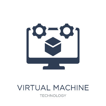 Virtual Machine icon. Trendy flat vector Virtual Machine icon on white background from Technology collection