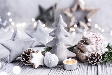 Beton Hintergrund Weihnachten Licht