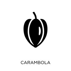 Carambola icon. Carambola symbol design from Fruit and vegetables collection.