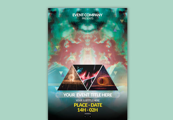 Colorful Triangle Poster Layout