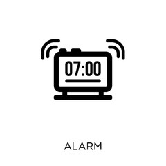Alarm icon. Alarm symbol design from Time managemnet collection. Simple element vector illustration. Can be used in web and mobile.
