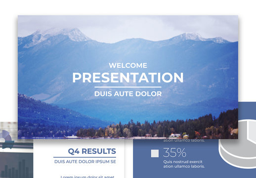 Blue and White Presentation Layout