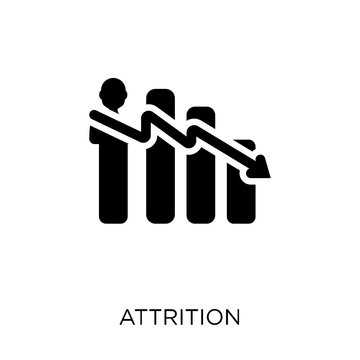 Attrition icon. Attrition symbol design from Time managemnet collection. Simple element vector illustration. Can be used in web and mobile.