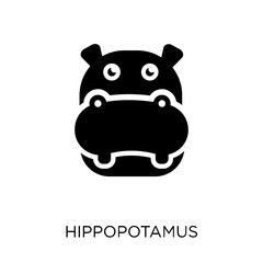 Hippopotamus icon. Hippopotamus symbol design from Animals collection.