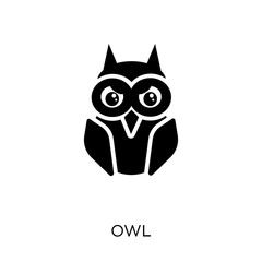 Fotobehang Uilen cartoon Owl icon. Owl symbol design from Animals collection.