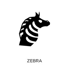 Zebra icon. Zebra symbol design from Animals collection.