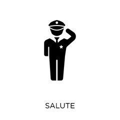 Salute icon. Salute symbol design from Army collection. Simple element vector illustration. Can be used in web and mobile.
