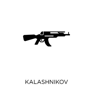 Kalashnikov icon. Kalashnikov symbol design from Army collection. Simple element vector illustration. Can be used in web and mobile.