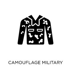 Camouflage military clothing icon. Camouflage military clothing symbol design from Army collection. Simple element vector illustration. Can be used in web and mobile.