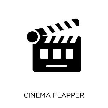 cinema flapper icon. cinema flapper symbol design from Cinema collection.