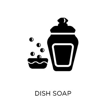 Dish soap icon. Dish soap symbol design from Cleaning collection.