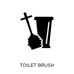 Toilet brush icon. Toilet brush symbol design from Cleaning collection.