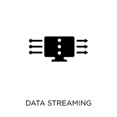 data streaming icon. data streaming symbol design from Networking collection.