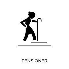 Pensioner icon. Pensioner symbol design from Professions collection.