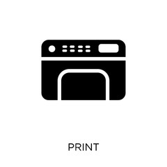 Print icon. Print symbol design from User interface collection.