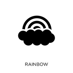 Rainbow icon. Rainbow symbol design from Weather collection.