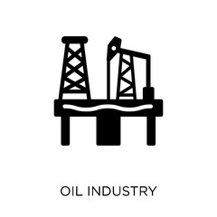 Oil industry icon. Oil industry symbol design from Industry collection.