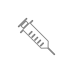 syringe, injector, squirt, gun, hypodermic icon. Simple outline vector of medicine set for UI and UX, website or mobile application