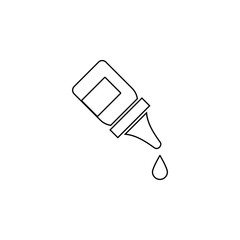 The eye drops, collyrium, bottle icon. Simple outline vector of medicine set for UI and UX, website or mobile application