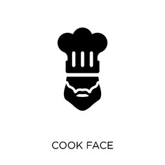 Cook face icon. Cook face symbol design from People collection.
