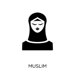 Muslim icon. Muslim symbol design from Religion collection.