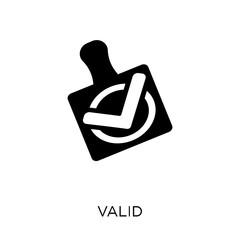 Valid icon. Valid symbol design from Success collection.