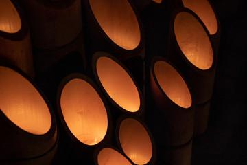 竹を使った照明 / 光 / イルミネーションのイメージ