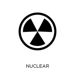 Nuclear sign icon. Nuclear sign symbol design from Traffic signs collection.