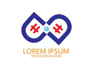 Initial Letter DH Cross Design Logo. Graphic Branding Letter Element.