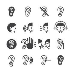 Ear icon set