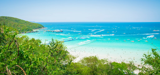 the beach at koh larn in thailand