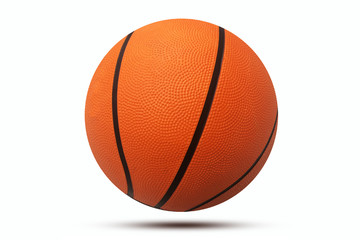 Basketball on white background,sport basketball