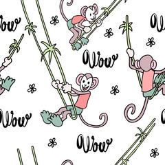 Funny  print with monkey