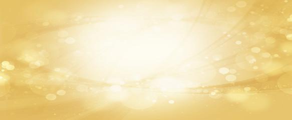 光輝くウェーブ 金色と黄色の背景