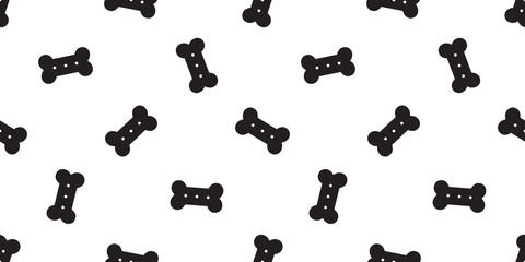 dog bone seamless pattern vector french bulldog food craker tile background repeat wallpaper scarf isolated illustration black