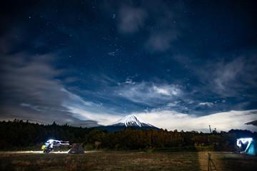 Mt Fuji with stars