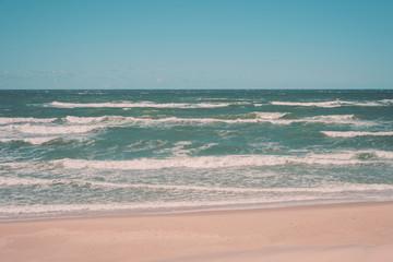 Landscape sea with waves, stylized