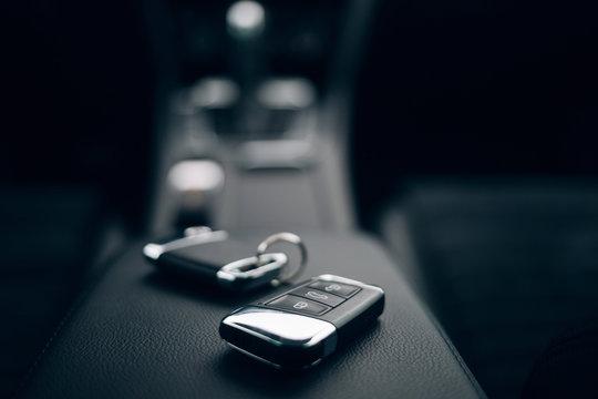 Car keys inside automobile
