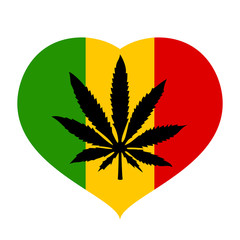 Rastaman marijuana vector icon