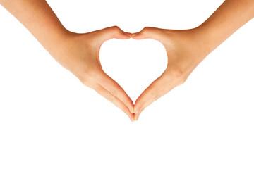 Hands making heart sign