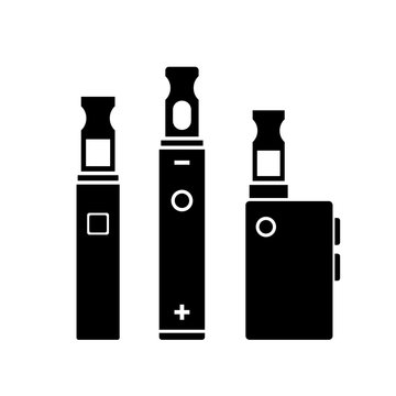 Vape smoking vector icon