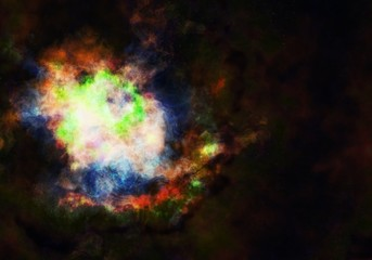 Starry Nebula Colorful Outer Space background illustration
