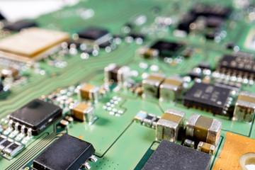 close up electronics PCB