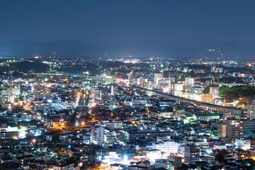 Wall Mural - 都市風景 熊本市 夜景