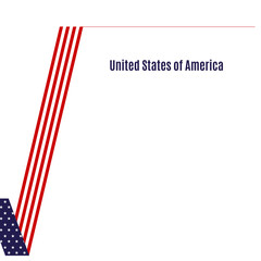 Patriotic background American flag of a check mark Design element for template layout card banner brochure Patriotic theme the flag of the United States for election voting Independence Day USA Vector