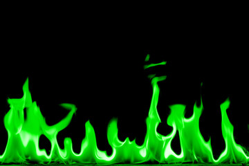 Printed roller blinds Fire / Flame Abstract chemical green fire flame background.