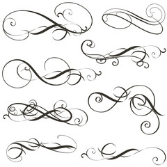 Set of vector flourishes for design