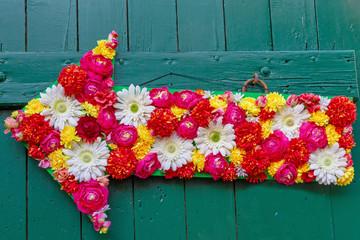 Wall Mural - Blumen Pfeil - Flower Arrow